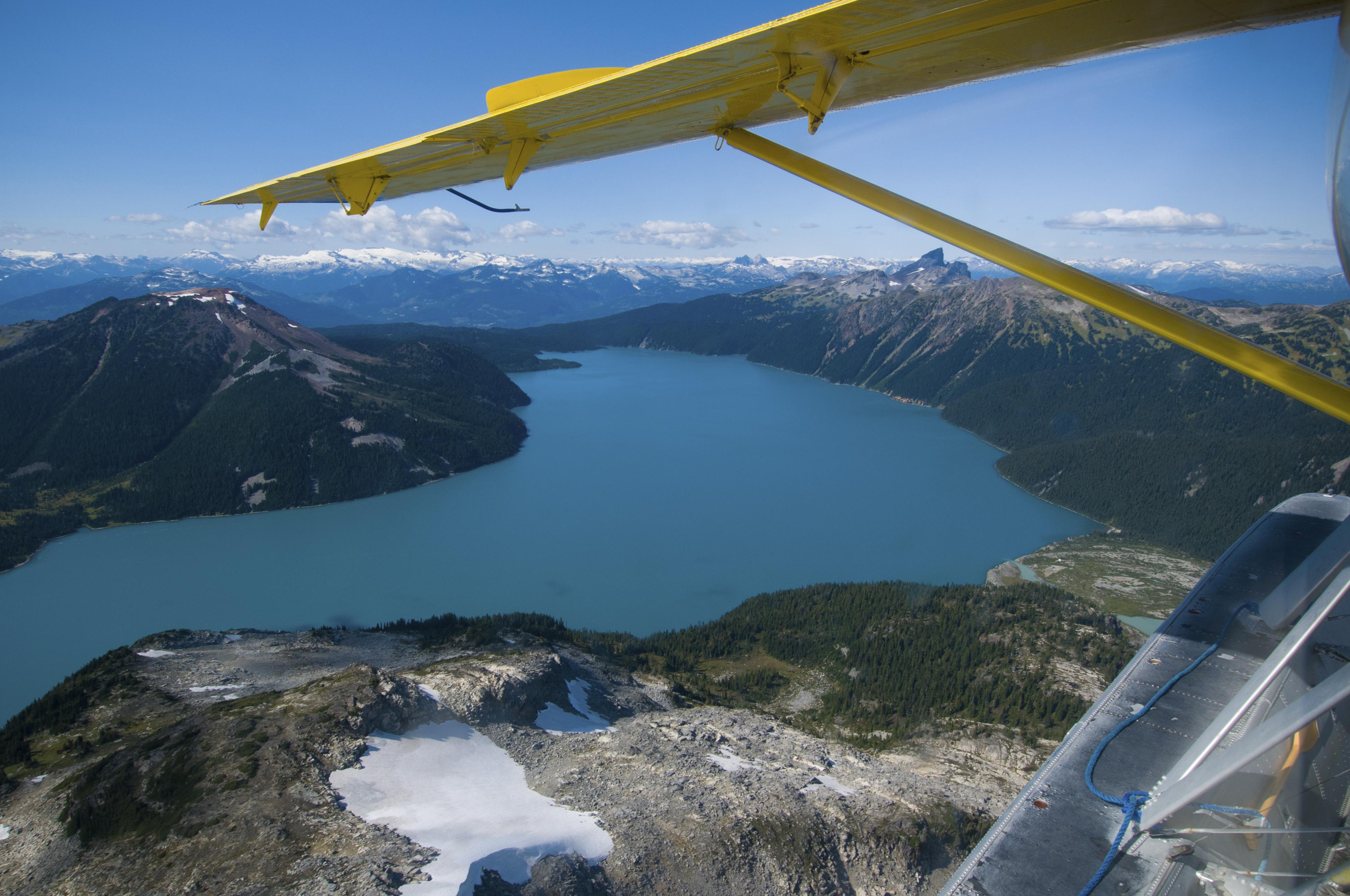Air flight over Garibaldi Lake, Whistler, Canada's West, aerospace in Canada, aviation in Canada, Aerospace Industries Association of Canada, AIAC, AIAC Pacific